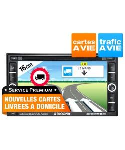 Autoradio double Din avec GPS spécifique Autocars