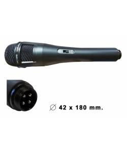 Microphone métal câble 6m Actia