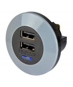 Chargeur USB DOUBLE 5V (Avant)